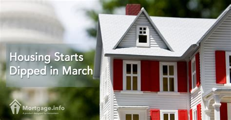 Housing Starts by Housing Starts Dipped In March Mortgage Info
