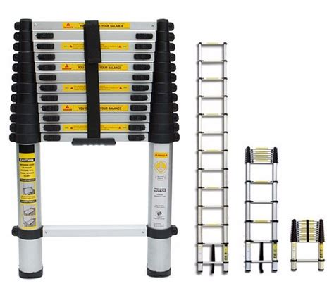 Telescoping L Changer by 12 1 2ft 12 5 Extension Telescoping Aluminum Ladder Ansi