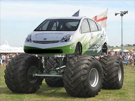 funny monster truck videos prius quot monster truck quot this is photoshopped but it s funny