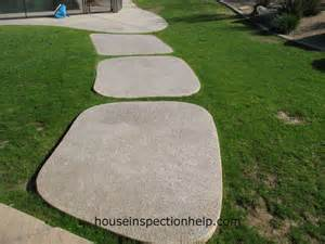 large textured concrete pavers