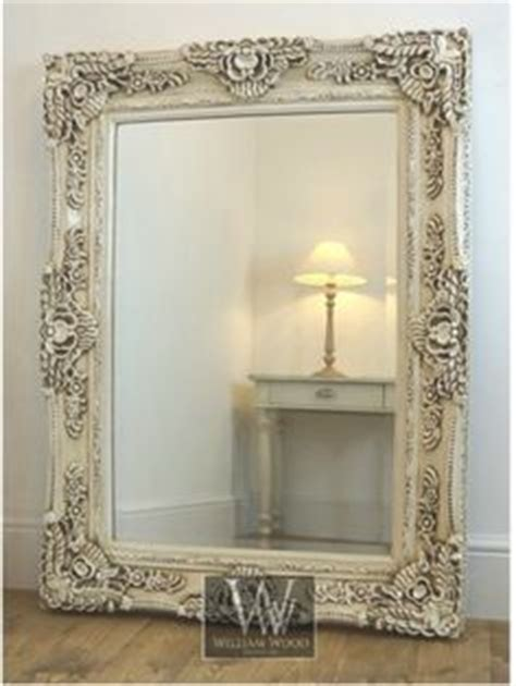 ls plus wall mirrors ella ornate rectangle antique wall mirror 61 quot x 49