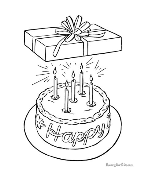 birthday present coloring page free coloring pages of birthday present