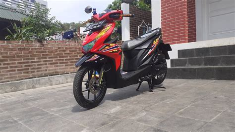 modifikasi motor beat striping terbaru beat