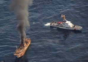 japanese fishing boat from tsunami us sink japan tsunami ghost ship with cannons daily mail