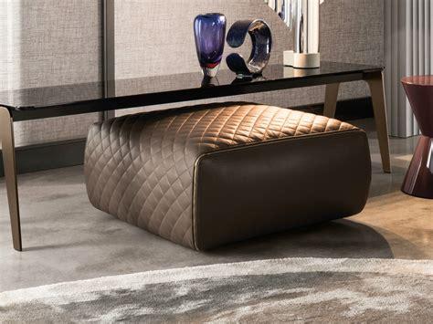 minotti ottoman leather pouf ottoman ashley by minotti design rodolfo