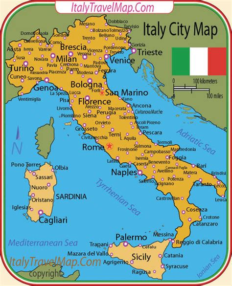 italy map with major cities italy images italy italy citys italy regions attractions