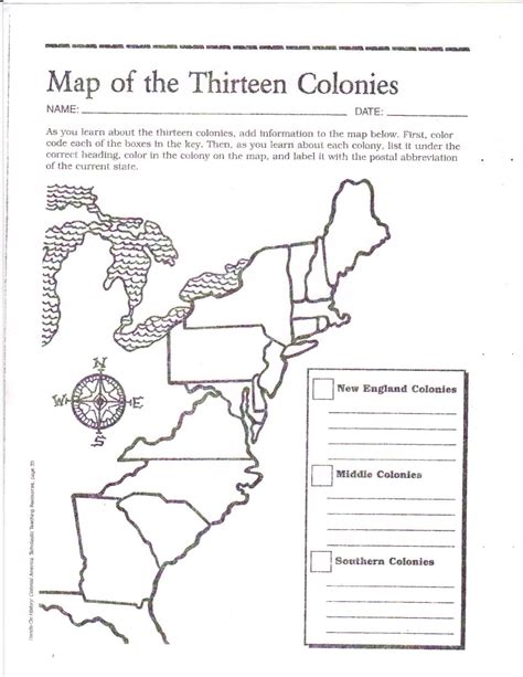 Coloring Page 13 Colonies Map by Free Printable 13 Colonies Map Activities Pinte