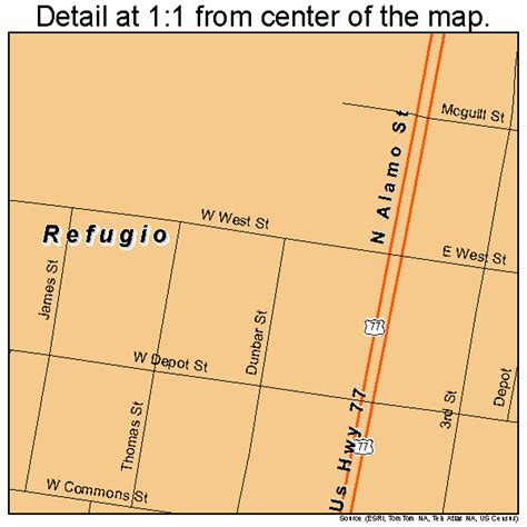 map of refugio texas refugio texas map 4861436