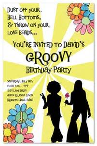 hippie supplies 60s birthday invitations boys boys sweet 16
