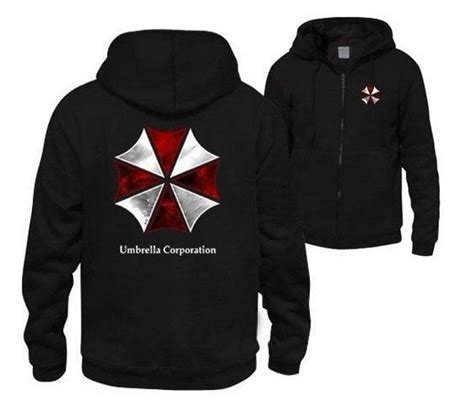 Hoodie Jaket Evil Corp Sweater Warung Kaos biohazard umbrella corporation resident evil coat costume hoodie jacket in hoodies