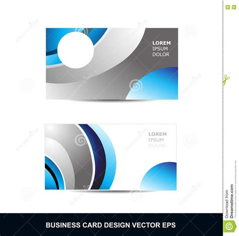 blue cracker card template blue silver grey business card vector design template