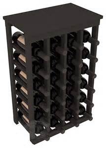 Kitchen Cabinet Wine Racks 24 Bottle Kitchene Wine Rack In Pine With Black Stain