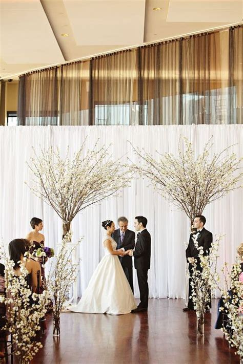 easy diy wedding ceremony decorations 30 winter wedding backdrops that excite happywedd