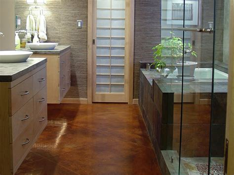 Bathroom Flooring Ideas Concrete Bathroom Flooring Options Interior Design Styles And