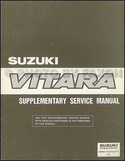 1994 1995 suzuki vitara repair shop manual supplement original