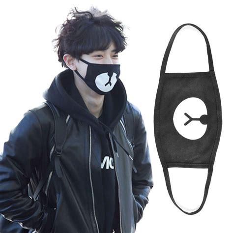 Masker Kpop Masker Rilakuma Chanyeol fashion kpop arrival exo chanyeol chan yeol warm mask ebay