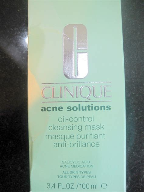 Clinique Acne Solutions Cleansing Mask everything i clinique acne solutions