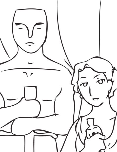 Academy Awards Oscars Coloring Pages Coloring Home Oscar Coloring Pages