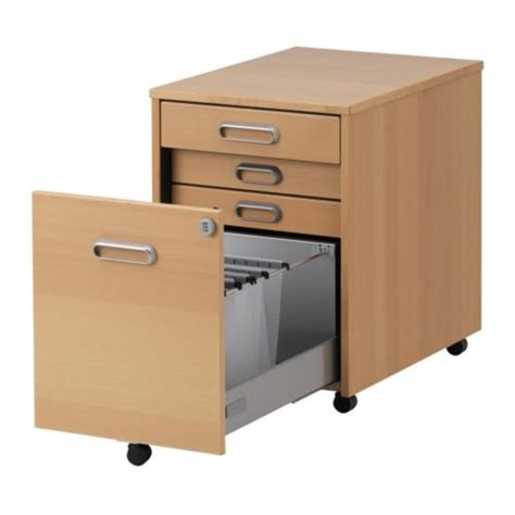 for sale ikea galant desk with wheeled drawer unit