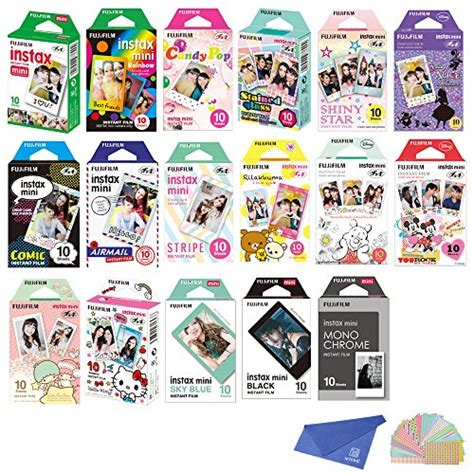 Fujifilm Instax Mini 3 Packs Sky Blue Black And Plain fujifilm instax mini instant 17 set sky blue