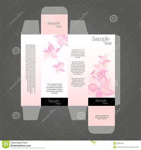 perfume box design perfume box design in editable vector