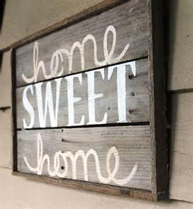 home sign home sweet home distressed wood sign by