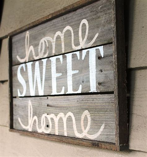 home sweet home distressed wood sign by