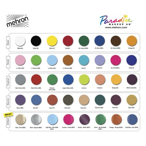 mehron paradise makeup aq 8 color palette basic from category others balloonmalaysia