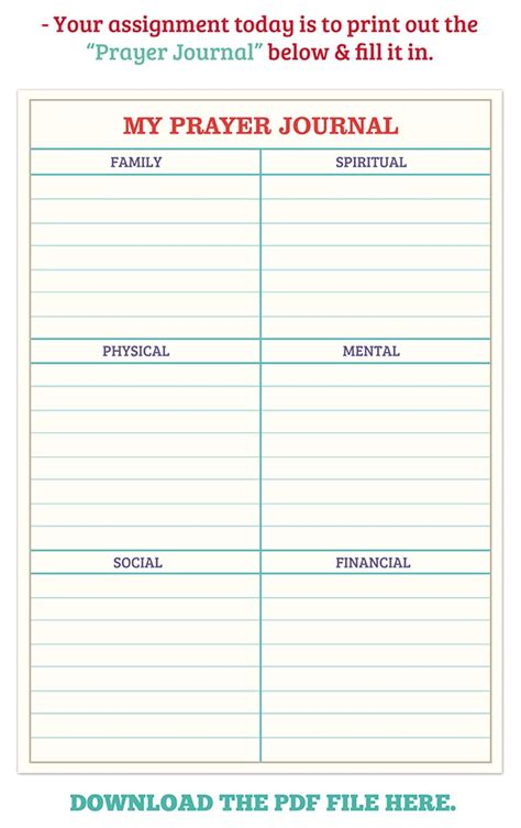 printable prayer list template 1000 images about prayer journal on prayer