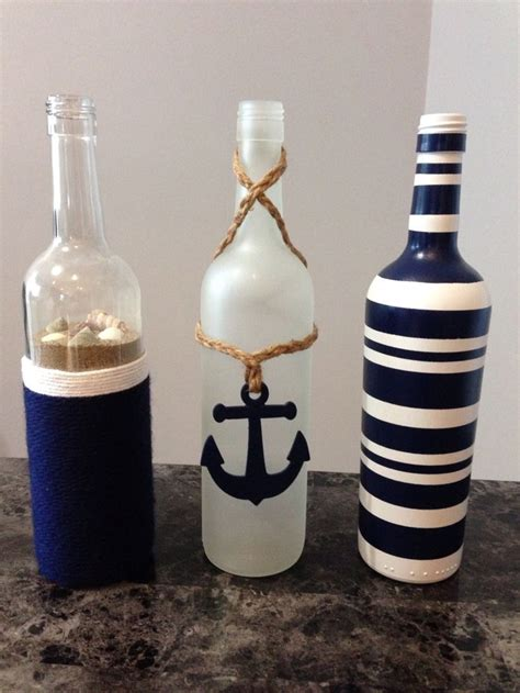 nautical wine bottles m 225 s crafting for ideas