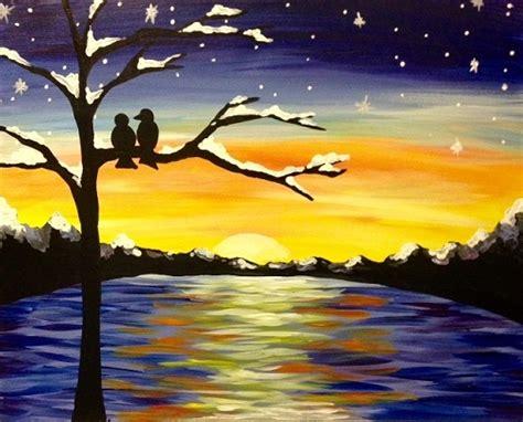 paint nite island photos paint nite winter sunset