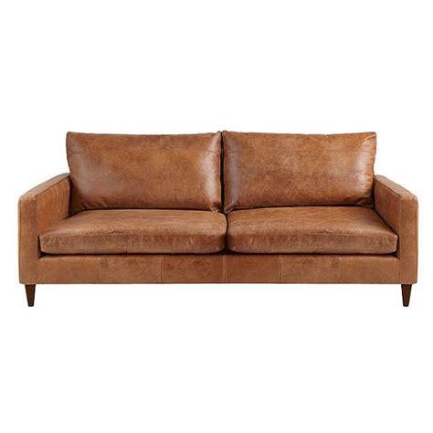 semi aniline leather sofa john lewis bailey large 3 seater semi aniline leather sofa