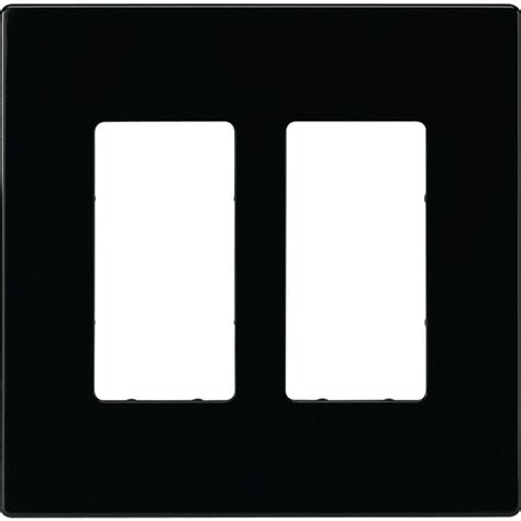 home depot l switch eaton 2 switch decorator duplex wall plate black