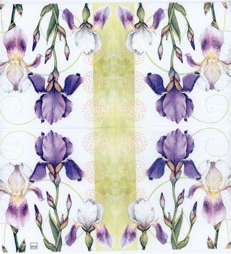 Purple Decoupage Paper - decoupage napkins of watercolor of iris flowers