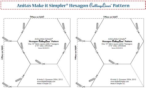 10 half hexagon template how to cut a hexagon free pdf pattern tutorial