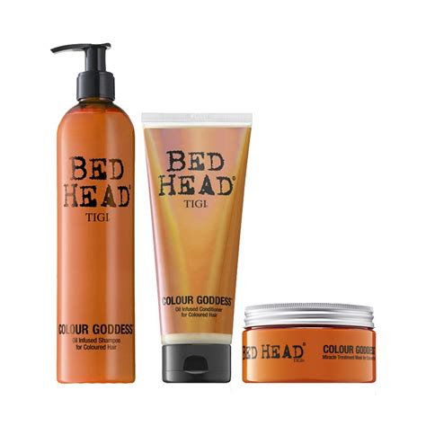 tigi bed head shoo tigi bed head colour goddess shoo conditioner mask