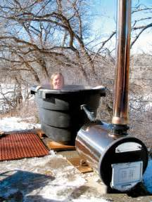 country lore wood fired tub diy earth news