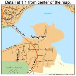 newport oregon map 4152450