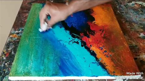 acrylic painting gesso how to texture canvas with gesso easy acrylic abstract