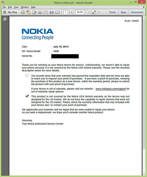 Guarantee Letter Usa is the nokia lumia 1520 3 same as rm 938 does nokia