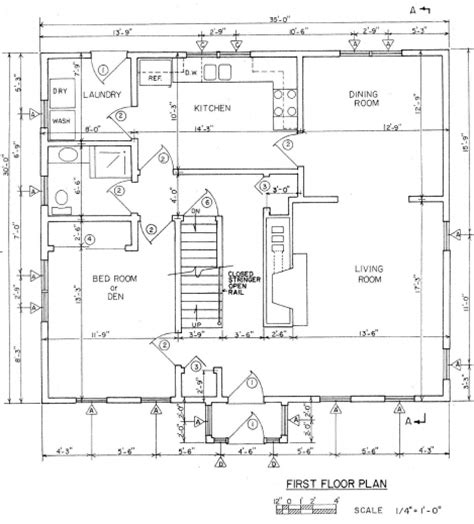 Floor Plan Measurements by Small House Plan With Size House Floor Plans