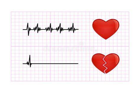 beat diagram heartbeat diagram illustration stock vector illustration