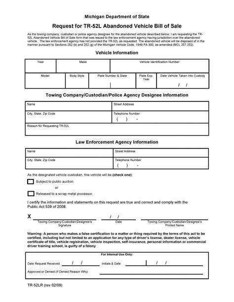 michigan boat bill of sale pdf free michigan abandoned vehicle bill of sale pdf word