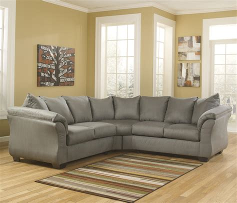 ashley sectional sofa contemporary sectional sofa with sweeping pillow arms by