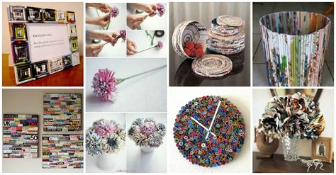diy recycled home decor diy amazing recycled magazines crafts that will inspire you