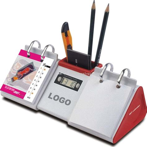best gifts for office desk desktop calendar with time and pen holder desk calendars
