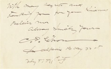 Unsigned Commitment Letter Charles Gibson Autograph Letter Signed 07 08 1891 Autographs Manuscripts