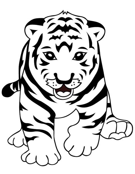 cute coloring pages of tigers 17 best images about lions and tigers on pinterest