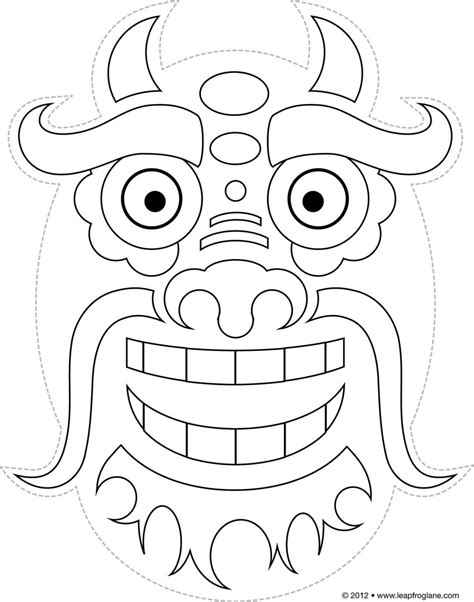 new year printable mask mask template www pixshark images