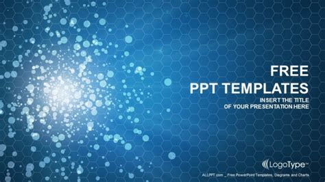 blue violet bokeh abstract ppt templates